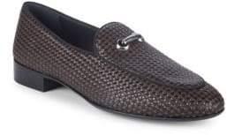 Giuseppe Zanotti Woven Leather Smoking Slippers