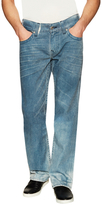 True Religion Distressed Flap Pocket Straight Jeans