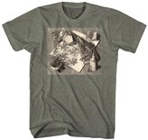 M. C. Escher Reptiles Coming to Life From Tessellated Drawing MC Escher Adult T-Shirt Tee
