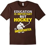 Men's Education Is Important But Hockey Is Importanter T-shirt Medium