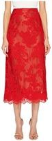Marchesa Corded Lace Tea Length Skirt Women's Skirt