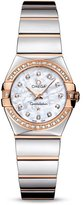 Omega Women's Constellation Diamond 24mm Two Tone Steel Bracelet & Case Quartz Watch 123.25.24.60.55.005
