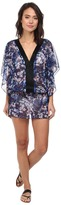Badgley Mischka Floriana Beaded Tunic Cover-Up