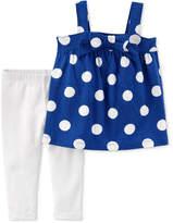 Carter's 2-Pc. Dot-Print Tunic & Leggings Set, Baby Girls
