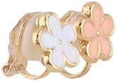 Grace Jun Fashion Cute Small Bee Flower Butterfly Rabbit Crown Clip on Earrings Without Piercing for Girl's Baby