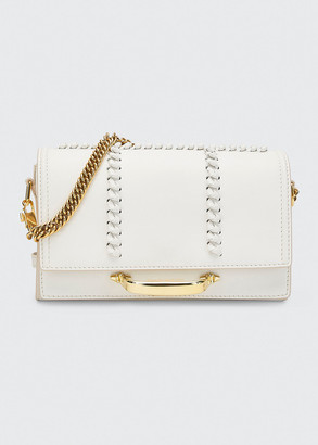 Alexander McQueen The Story Topstitch Leather Shoulder Bag