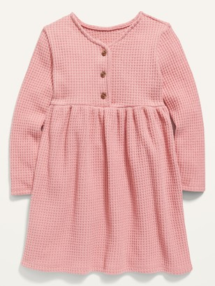 Old Navy Fit & Flare Thermal Henley Dress for Toddler Girls