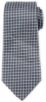 Armani Collezioni 3D Box-Print Silk Tie, Gray/Light Blue