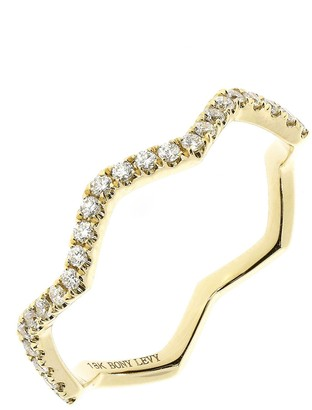 Bony Levy 18K Yellow Gold Diamond Zigzag Ring - 0.15 ctw
