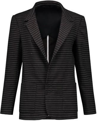 Eva D. Pinstripe Suit Jacket 'Slack' - Wool/Linen Blend