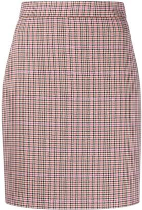 MSGM Herringbone Tweed Mini Skirt