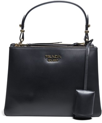 Prada Double Zip Top Handle Shoulder Bag