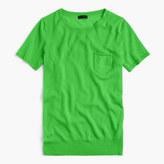 J.Crew Italian featherweight cashmere short-sleeve pocket T-shirt