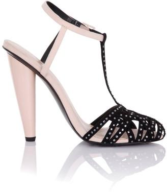 Little Mistress Linzi Footwear Cybele Nude Embellished Round Toe Heels