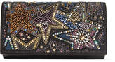 Christian Louboutin Boudoir Embellished Textured-leather Shoulder Bag - Black