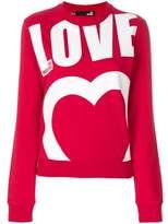 Moschino Women's Red Cotton Sweatshirt.