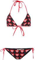 Fendi heart print bikini set - women - Polyamide/Spandex/Elastane - 44