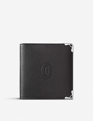 Cartier Must de small bi-fold leather wallet