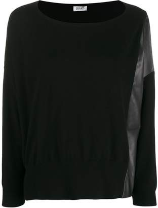 Liu Jo contrast panel knit sweater