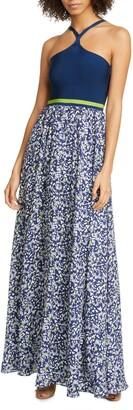 Tanya Taylor Fifi Mixed Media Maxi Dress