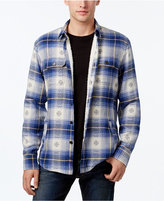 American Rag Plaid Shirt Jacket with Sherpa Lining, Only at Macy's