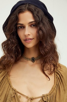 Free People Mesh Pendant Collar
