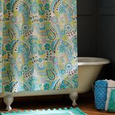 PBteen Paisley Pop Shower Curtain - Dark Pool