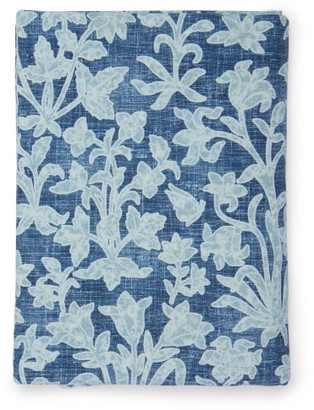 D'Ascoli Haveli 224cm X 315cm Floral Linen-blend Tablecloth - Blue Multi