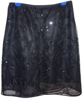 Sportmax Black Glitter Skirt for Women