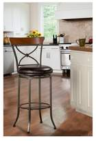 "Hillsdale Furniture Cameron Swivel 26"" Counter Stool Metal/Charcoal"