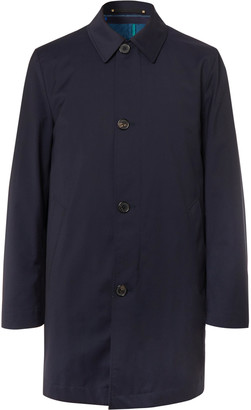 Paul Smith + Loro Piana Storm System Wool Car Coat With Detachable Quilted Shell Liner - Blue