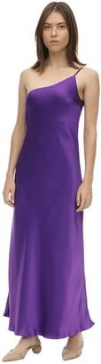 Lesyanebo Reversible Silk Satin Midi Dress