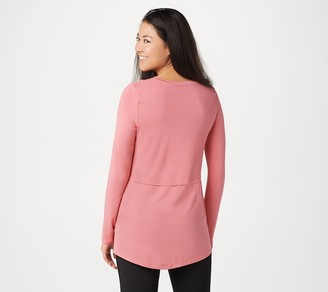Cuddl Duds Softwear Stretch Long-Sleeve Scoop-Neck Top