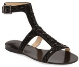 Imagine by Vince Camuto Women's Imagine Vince Camuto 'Reid' Embellished T-Strap Flat Sandal