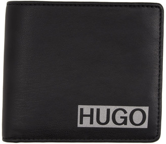 HUGO Black Eco Leather Wallet and Card Holder Gift Set