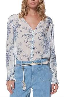 Paige Tropical Toile Calliope Shirt