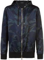Balmain camouflage zipped bomber jacket