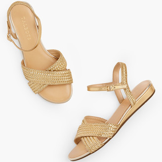 Talbots Daisy Micro Wedge Sandals - Metallic
