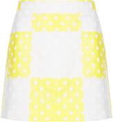 Topshop Check Flock Spot Mini Skirt