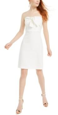 Sam Edelman Strapless Bow-Front Dress