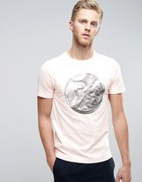 Ps Paul Smith Ps By Paul Smith T-shirt Foil Ps Slim Fit In Pink