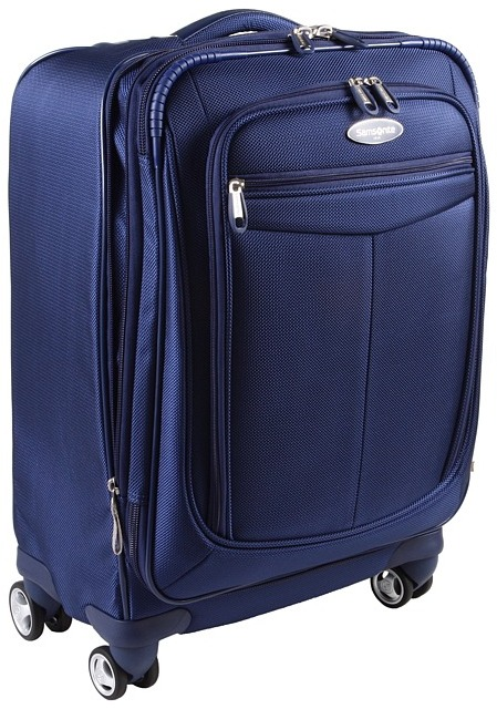 Samsonite Silhouette Softside Expandable Spinner 21 Case (Sapphire) - Bags and Luggage