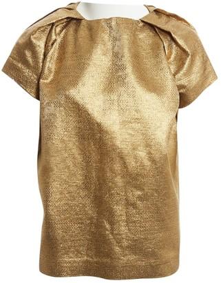 Dawid Tomaszewski Gold Cotton Top for Women