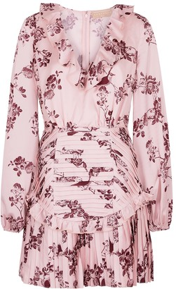 Keepsake Belle floral-print satin mini dress
