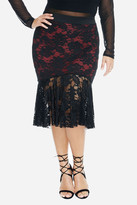 Fashion to Figure Alise Lace Fluted Skirt