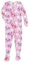Tea Collection Infant Girl's Shetland Fitted One-Piece Pajamas