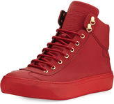 Jimmy Choo Argyle Men's Textured Leather High-Top Sneaker