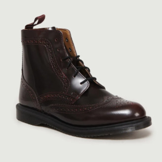 Dr. Martens Cherry Red Leather Delphine Arcadia Boots - leather   cherry red   36 - Cherry red