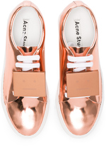 Acne Studios Adriana Metallic Leather Sneakers