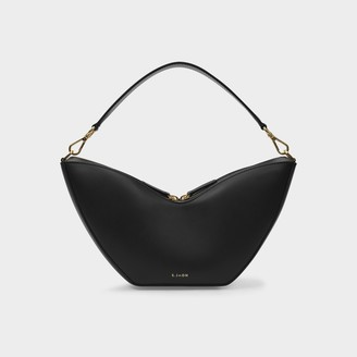 S.JOON Tulip Bag In Black Smooth Leather